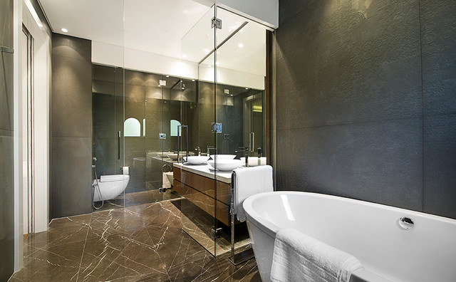 Palm jumeirah villa in dubai modern bathroom other by mypickone studio design Bathroom design jobs dubai
