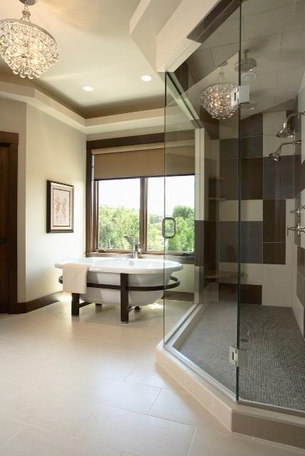 Palmer Pointe Road Residence Master Bathroom contemporary-bathroom