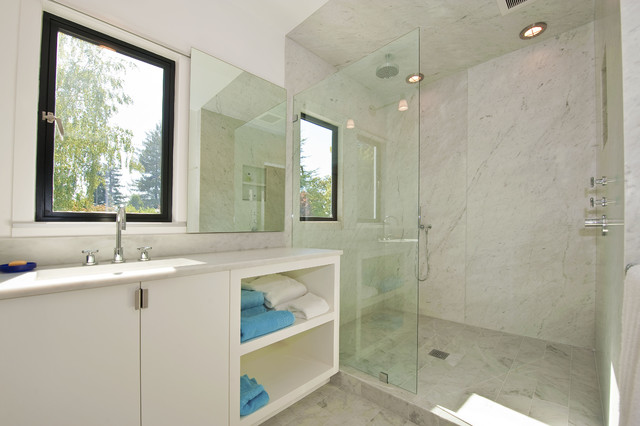 Palo Alto Contemporary Remodel modern-bathroom