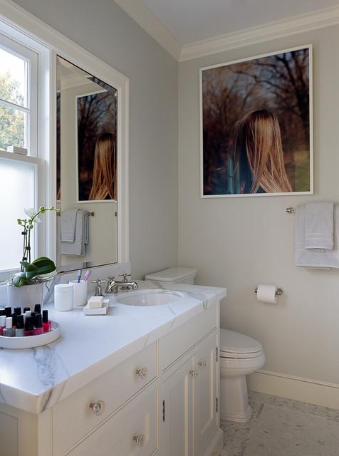 Gentil Palo Alto Dutch Colonial Revival Traditional Bathroom