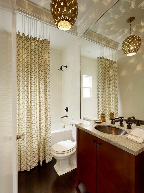 Ceiling shower rod or curved shower bar?