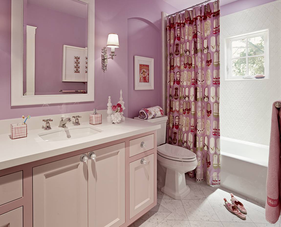 75 Beautiful Pink Kids Bathroom Pictures Ideas May 2021 Houzz
