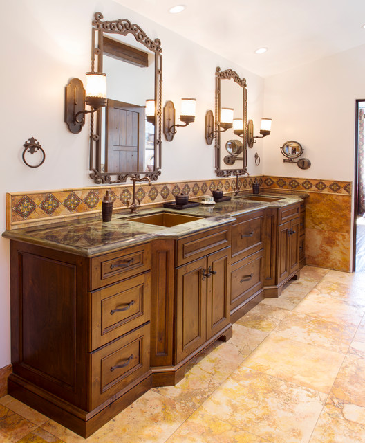 Palos Verdes Estates Rustic Spanish Mediterranean Bathroom
