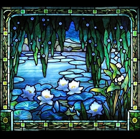 Water Lilies Bathroom Stained Glass Traditional