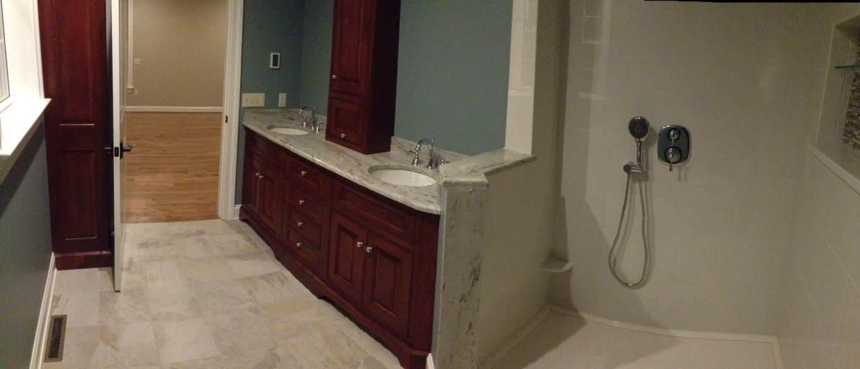 Panoramic View of Master Bath