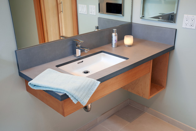 Paperstone Counter In Bathroom Sink.Contemporary Bathroom, Seattle