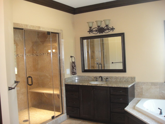 Parade of homes model modern bathroom cleveland by for Model bathroom designs