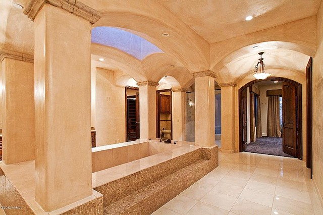 Paradise Valley Custom Home Build Mediterranean Bathroom Phoenix By Carmel Homes Design