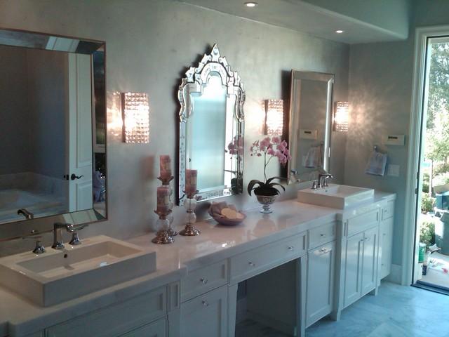 Parisian Glam Bathroom Modern Bathroom San Diego