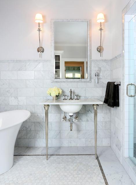 Parisian Inspired Master Bathroom Design traditional-bathroom