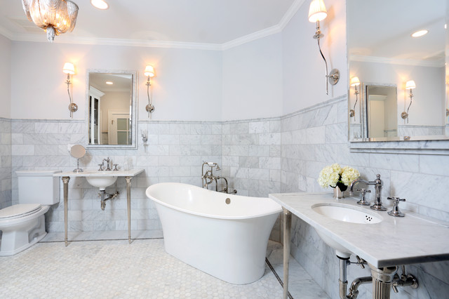 Parisian Inspired Master Bathroom Design Traditional Bathroom