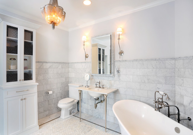 Parisian inspired master bathroom design traditional for Paris inspired bathroom ideas