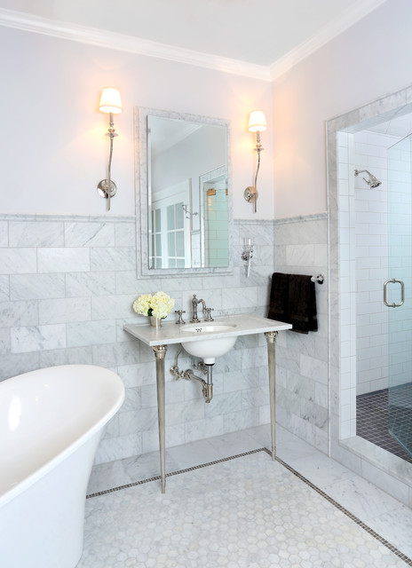 Parisian Inspired Master Bathroom Design - Traditional - Bathroom - chicago - by Normandy Remodeling