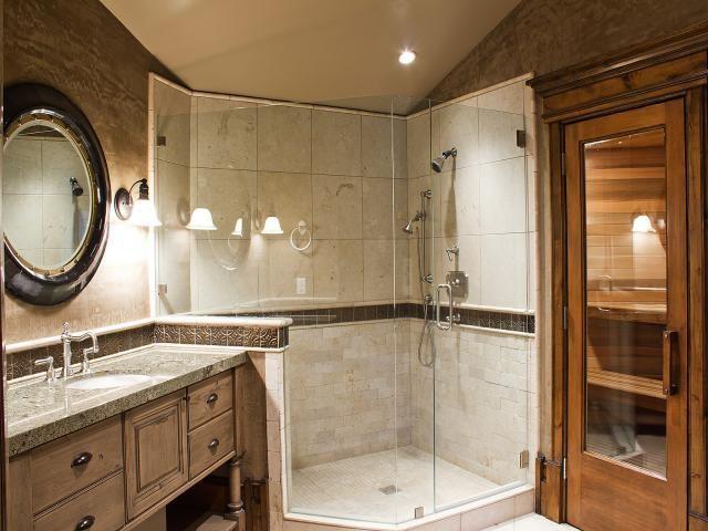 Park city quarry mountain home contemporary bathroom for Lake house bathroom ideas