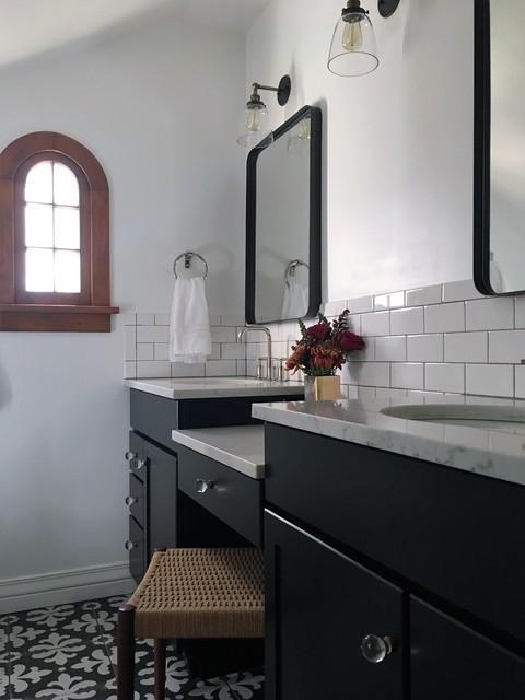 Park hill tudor revival for Tudor bathroom design