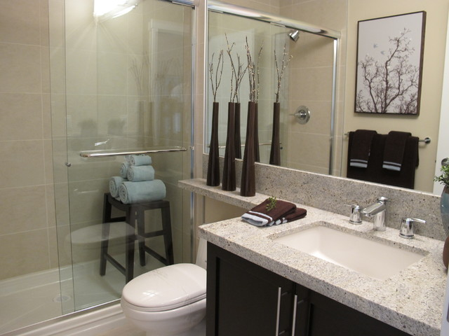 Parkside estates master ensuite bathroom contemporary for Small ensuite bathroom