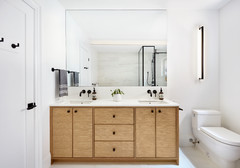 Bathroom of the Week:  Modern Family Bath in 85 Square Feet