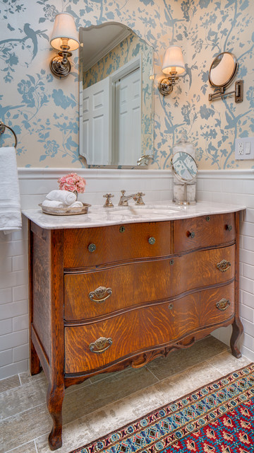Pasadena area bath remodel traditional-bathroom