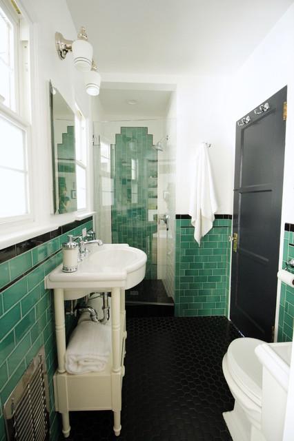Pasadena green guest bathroom traditional bathroom for Design consultant los angeles