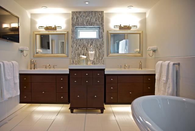 Peaceful Master Bedroom And Bahroom Traditional Bathroom Los Angeles By Van Zee Design