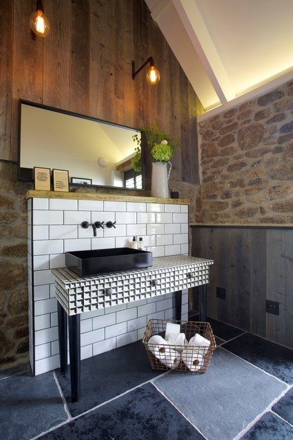 Peacock Blue Eclectic Bathroom Devon By Woodford