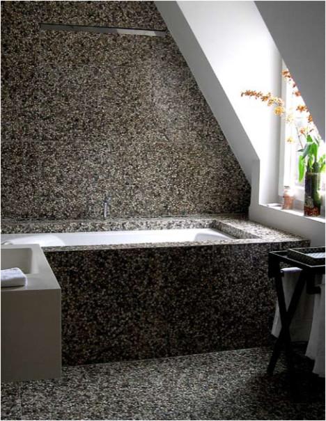 Attirant Pebble Tile BathroomTraditional Bathroom