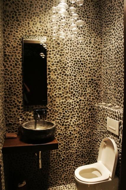 Pebblestones for a restroom? contemporary-bathroom