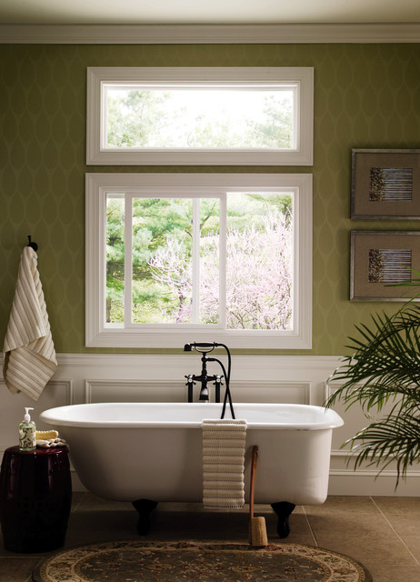 Superbe Pella® 350 Series Sliding Window Traditional Bathroom