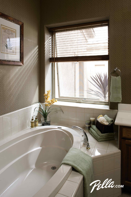 pella impervia awning windows transitional bathroom