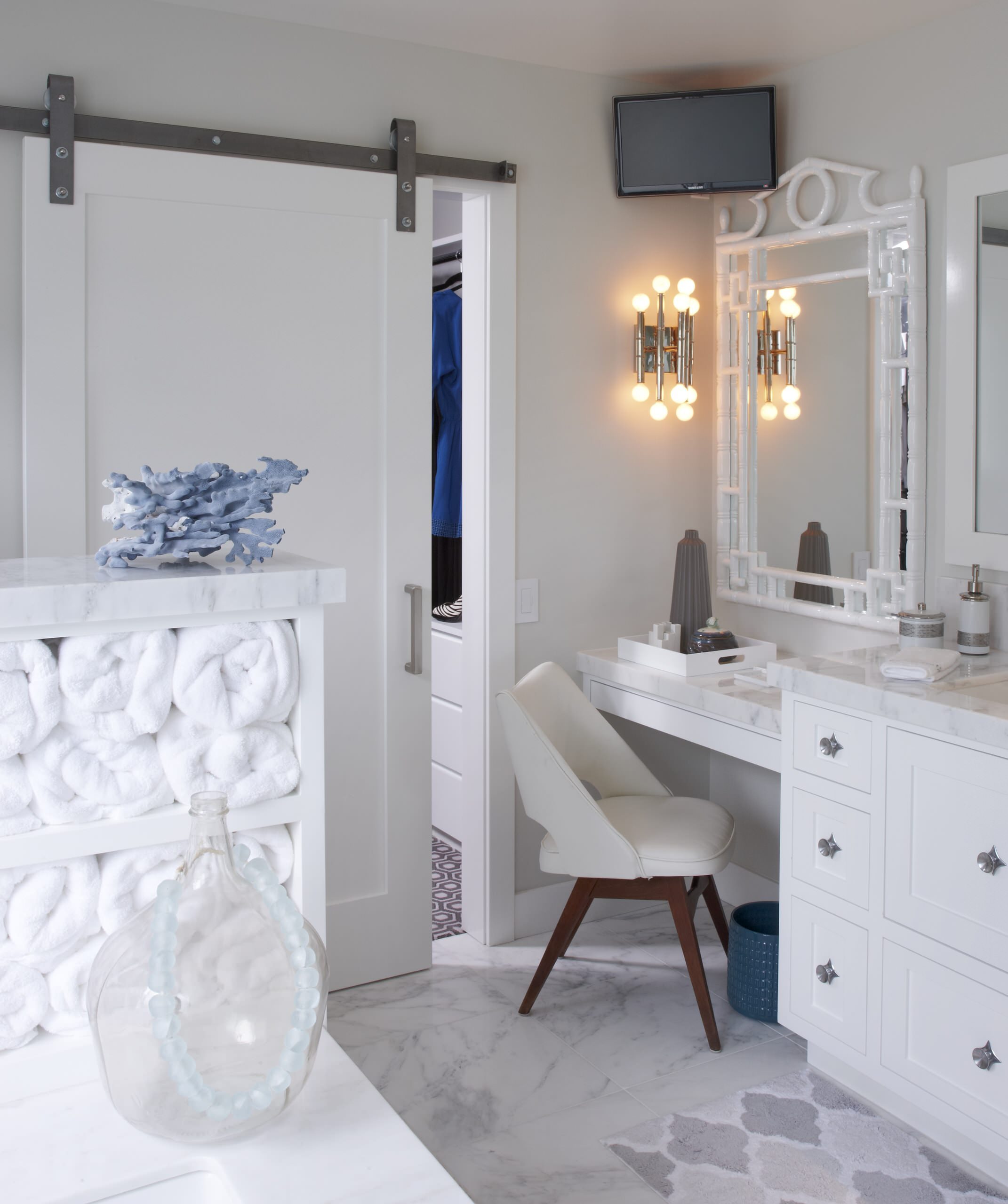 Master Bathroom Makeup Vanity Houzz