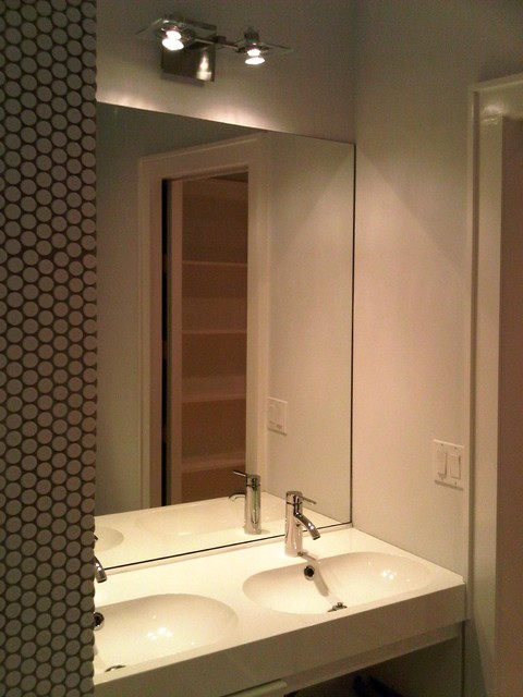 Penny tile ikea sinks pocket door - Ikea bathroom tiles ...