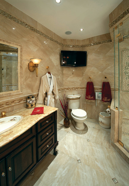 Penthouse apartment traditional bathroom new york for New york bathroom design