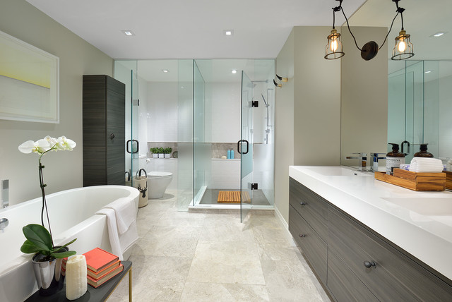 Penthouse Master Bath Modern Bathroom Toronto By Julie Chapman Interi