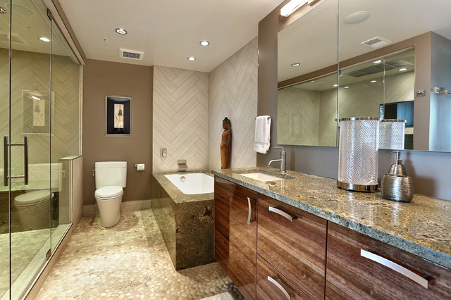 Penthouse Master Bathroom Remodel Contemporary