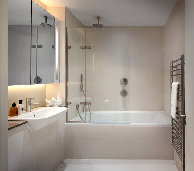 penthouse refurbishment in londons financial district contemporary bathroom