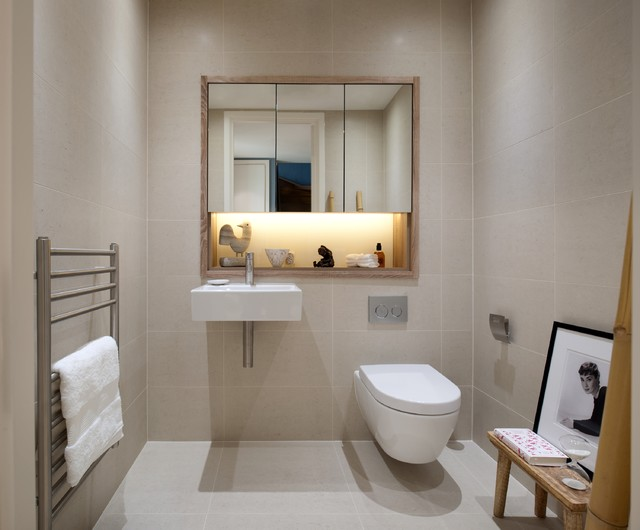 Penthouse Refurbishment In London S Financial District Contemporary Bathroom London By
