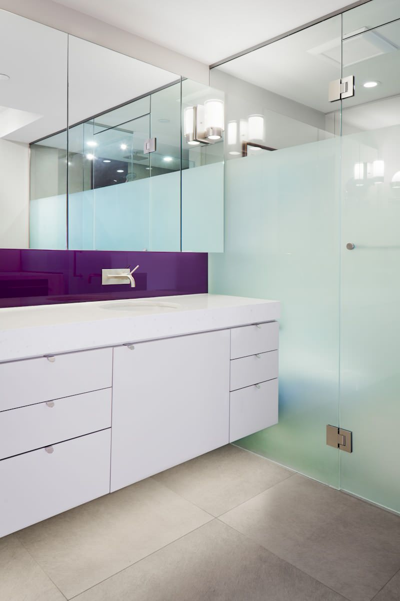 Partially Frosted Glass Shower Door Houzz