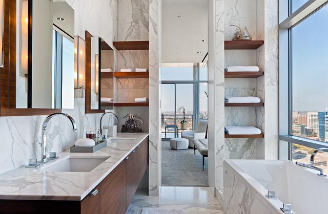 penthouse THE HOUSE Dallas Contemporary Bathroom Dallas