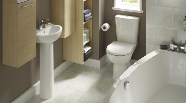 Perdita Space Saving Bathroom Suite Contemporary
