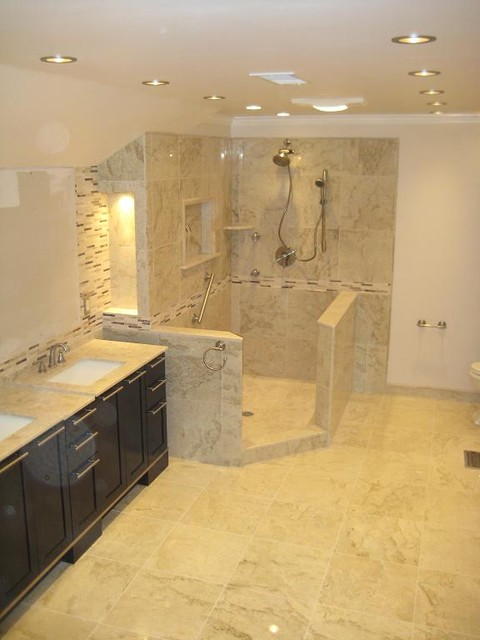 Perlato Beige Marble Bathroom Modern Bathroom