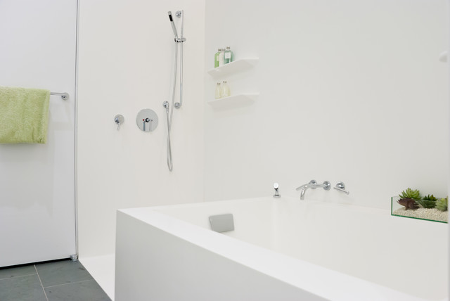 Perry St Corian Bathroom NYC Contemporary