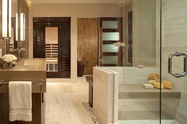 Personal Spa Bath Contemporary Bathroom Denver By Ashley Campbell Interior Design
