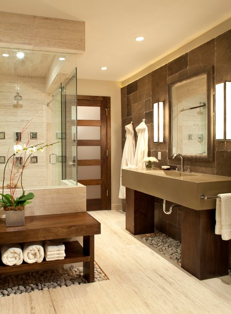Ashley Campbell Interior Design Architects Building Designers Personal Spa Bath Contemporary Bathroom