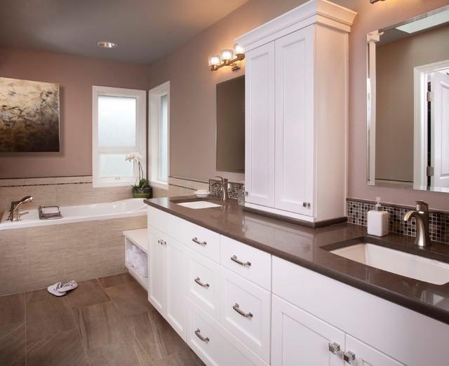 Personal spa retreat transitional bathroom seattle for Spa retreat bathroom ideas
