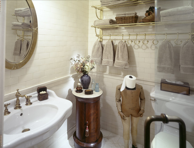 Example Of A Classic Subway Tile Bathroom Design In New York