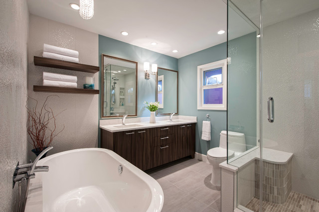 Peters Residence modern-bathroom