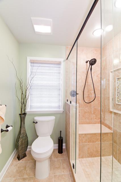 Beautifully Efficient Center City Bathroom traditional-bathroom