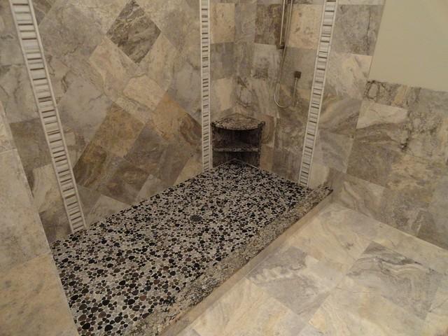 Philadelphia Travertine contemporary-bathroom