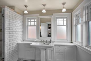 bathroom windows design. Phinney residence master bath  Craftsman Bathroom Seattle by Goforth Gill Architects