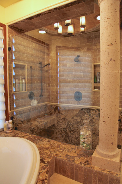 Phoenix Az Master Bathroom Renovation Traditional Bathroom Other By Hochuli Design